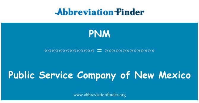 PNM: Empresa de servicio público de nuevo México