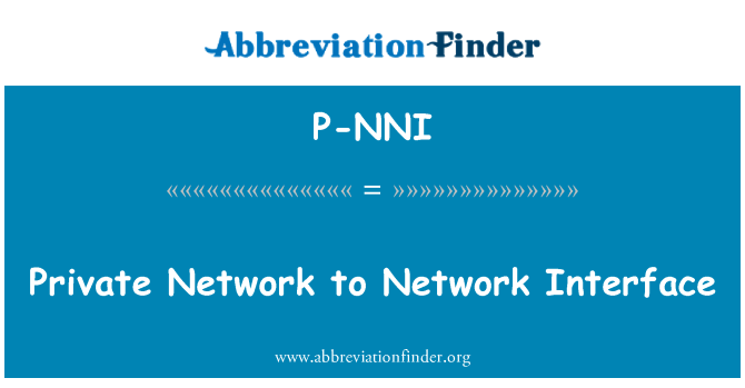 P-NNI: Private Network to Network Interface