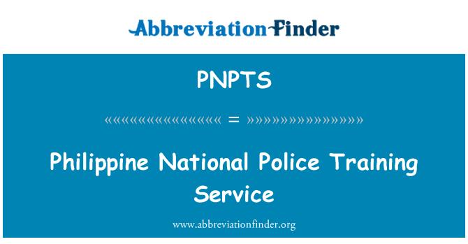 PNPTS: Philippine National Police Training Service
