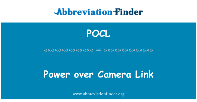 POCL: 电源通过相机链接