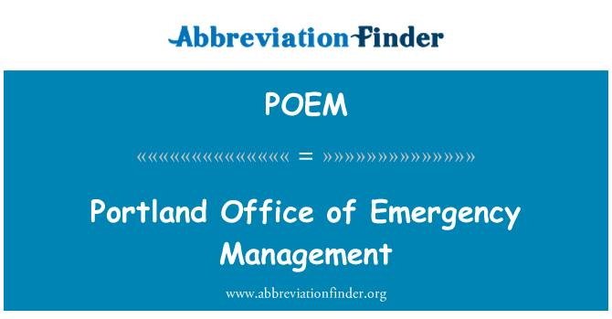 POEM: Oficina de gestión de emergencias en Portland