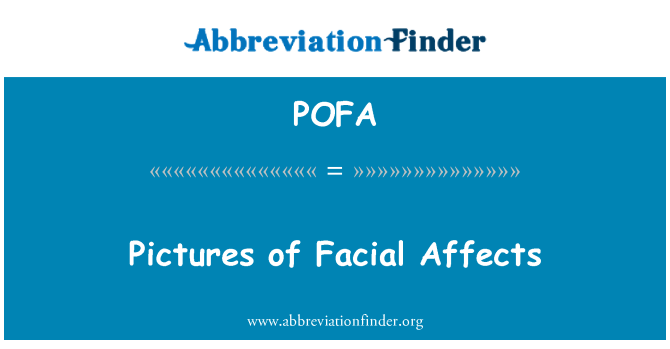 POFA: Pictures of Facial Affects