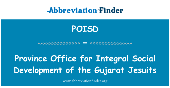 POISD: Province Office for Integral Social Development of the Gujarat Jesuits