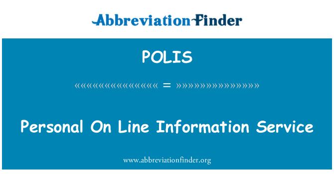 POLIS: Personal de servicio de información de línea