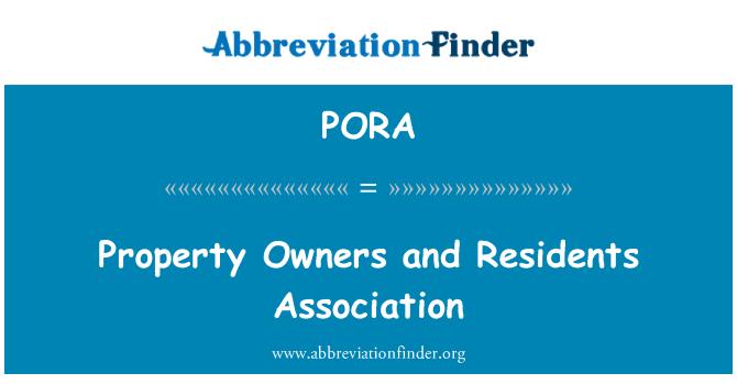 PORA: Kinnistu omanikud ja elanikud Assotsiatsiooni