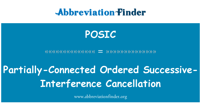 POSIC: Partially-Connected Ordered Successive-Interference Cancellation