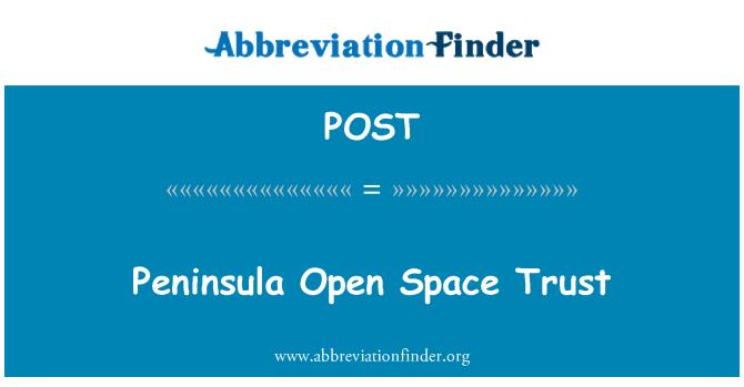 POST: Península espacio abierto confianza