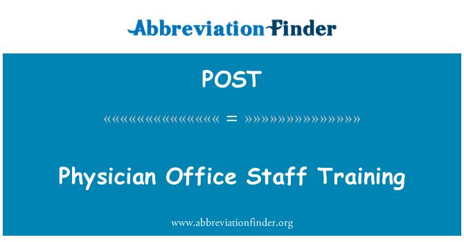 POST: Consultorio del médico personal de entrenamiento