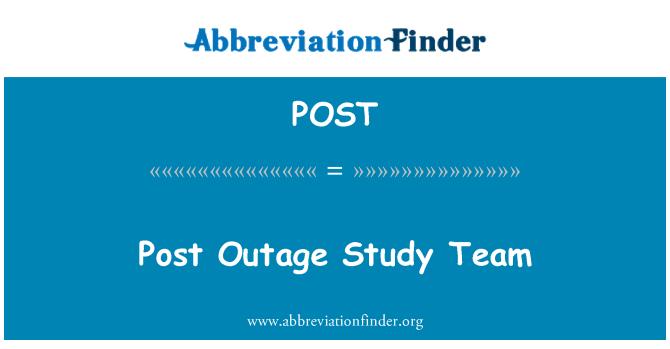 POST: Post interrupción en el equipo del estudio