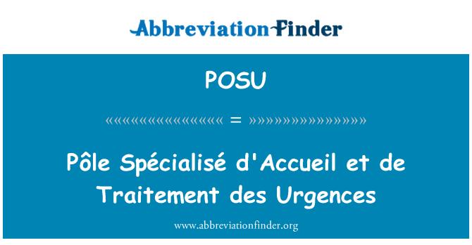 POSU: Pôle Spécialisé d'Accueil et de Traitement des Urgences