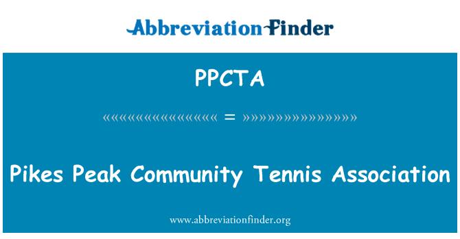 PPCTA: Pikes Peak Community Tennis Association