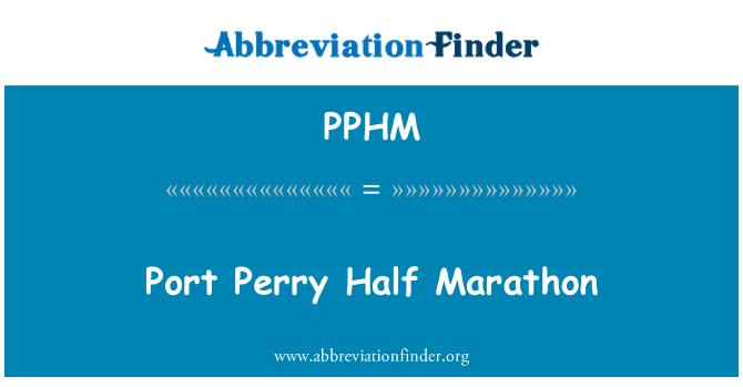 PPHM: Port Perry Half Marathon