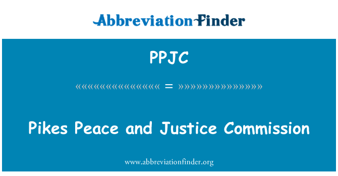 PPJC: Pikes Peace and Justice Commission