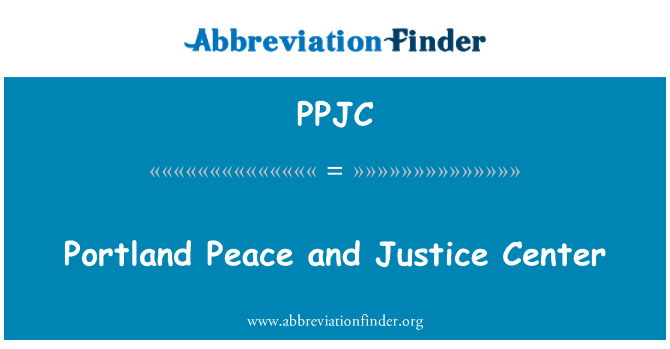 PPJC: Portland Peace and Justice Center