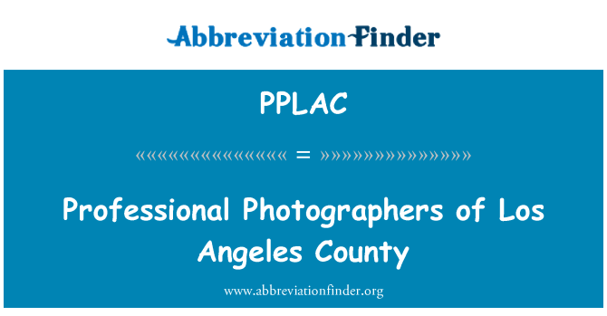 PPLAC: Professional Photographers of Los Angeles County