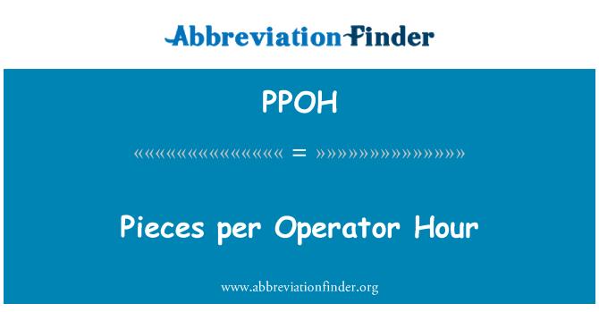 PPOH: Pieces per Operator Hour