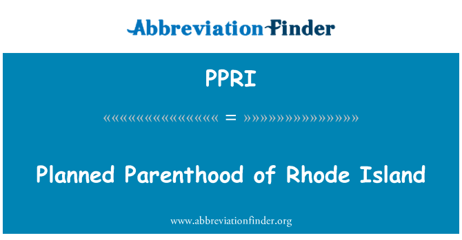 PPRI: Planned Parenthood of Rhode Island