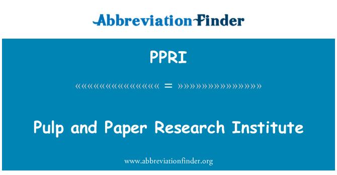 PPRI: گودا و کاغذ ریسرچ انسٹی ٹیوٹ