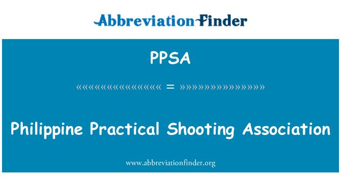 PPSA: Asociación Filipina de tiro práctico