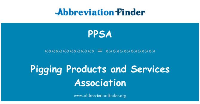 PPSA: Asociación de servicios y productos de Pigging