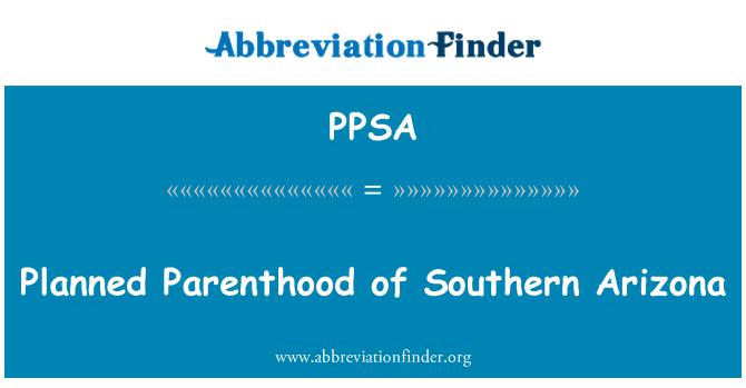 PPSA: Planificación de la familia del sur de Arizona