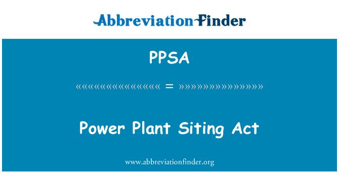 PPSA: Acto de emplazamiento central eléctrica