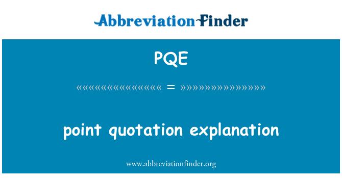 PQE: הצבע הסבר הצעת מחיר