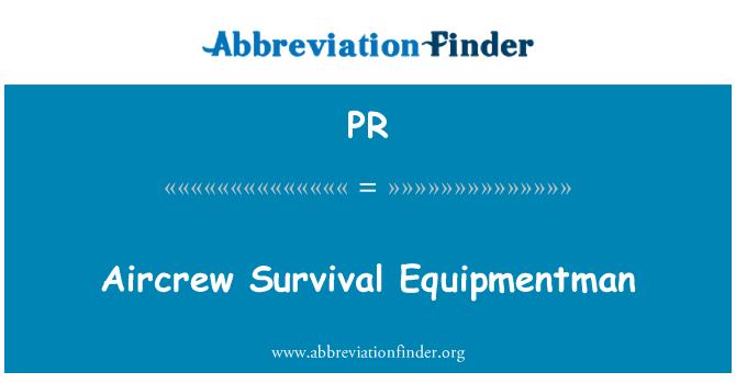 PR: Aircrew Survival Equipmentman