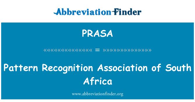 PRASA: Asociación de reconocimiento de patrón de Sudáfrica