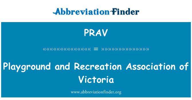 PRAV: Parque y recreación Association of Victoria