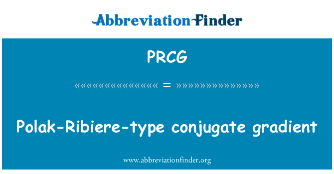 PRCG: Polak-Ribiere-type conjugate gradient