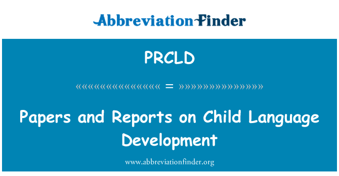 language development in children research paper How can i tell if my child has a speech or language delay  these trained  professionals can help work with children to develop or improve their speech.