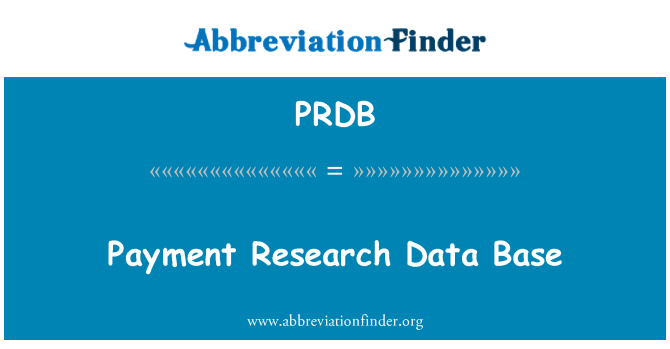 PRDB: Payment Research Data Base