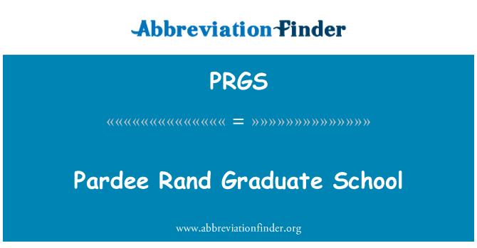 PRGS: Pardee Rand Graduate School