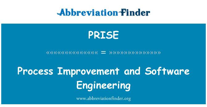 PRISE: Mejora de procesos e ingeniería de Software