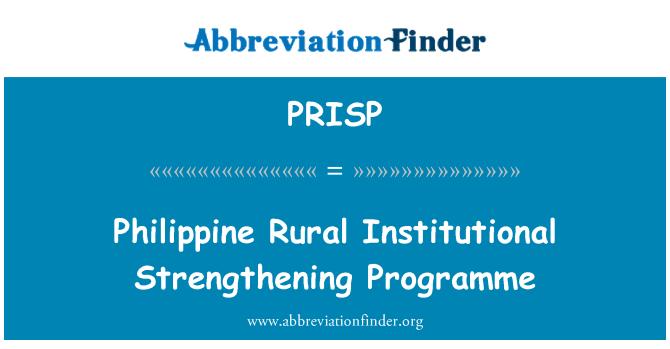 PRISP: Philippine Rural Institutional Strengthening Programme