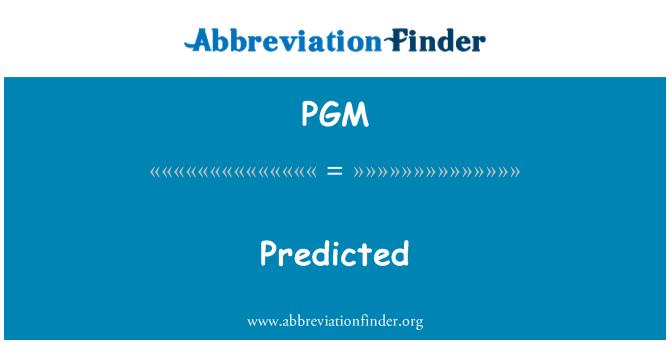 PGM: Meramalkan