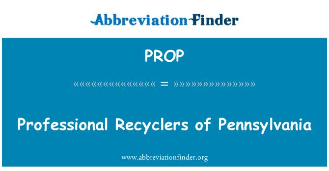 PROP: Profesionales recicladores de Pennsylvania