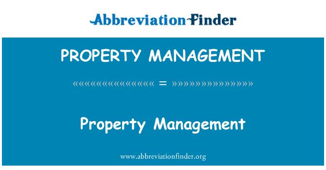 PROPERTY MANAGEMENT: Gestión de la propiedad