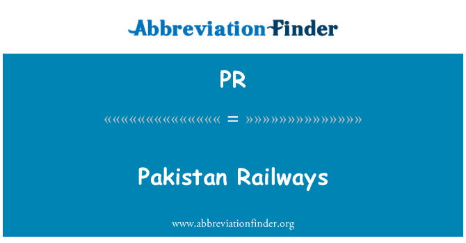 PR: Pakistan Railways