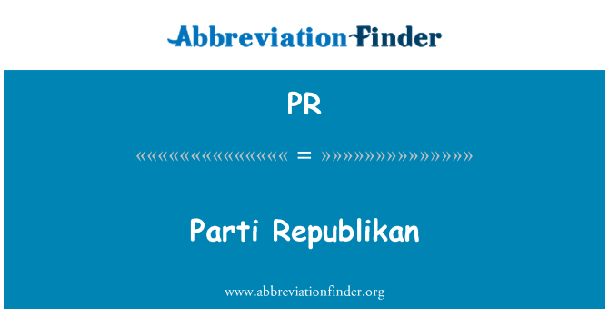 PR: Parti Republikan