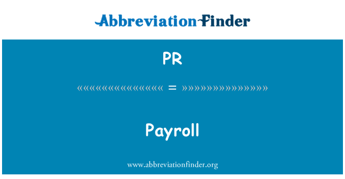 PR: Payroll