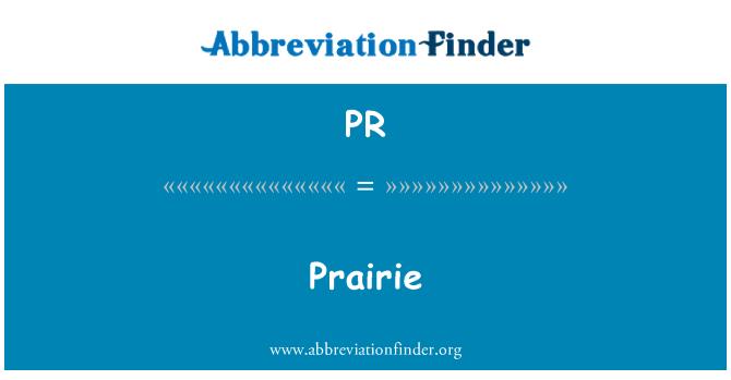 PR: Prairie