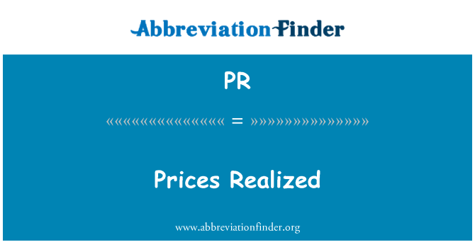 PR: Prices Realized