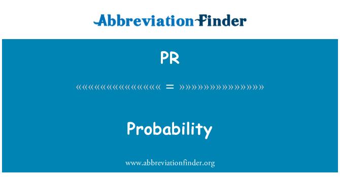 PR: Probability