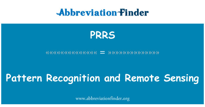 PRRS: Pattern Recognition and Remote Sensing