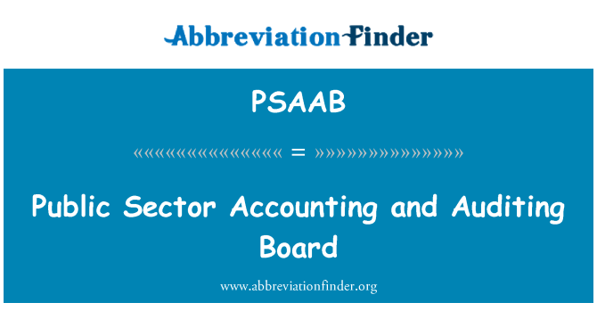 PSAAB: Public Sector Accounting and Auditing Board