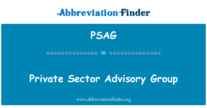 PSAG: Private Sector Advisory Group
