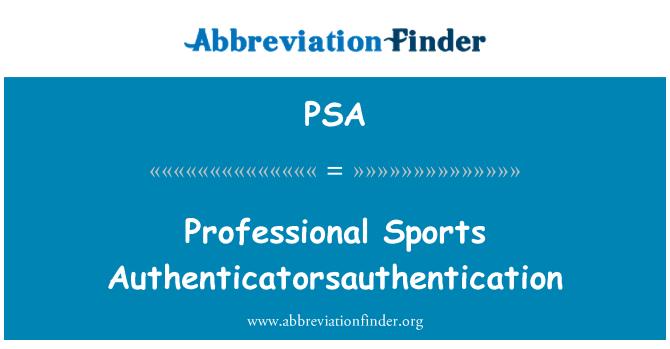PSA: 职业体育 Authenticatorsauthentication