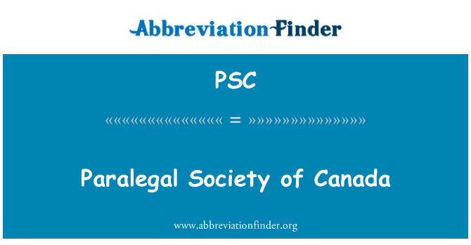 PSC: Paralegal Society of Canada